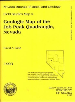 Geologic map of the Job Peak quadrangle, Nevada B/W MAP AND TEXT