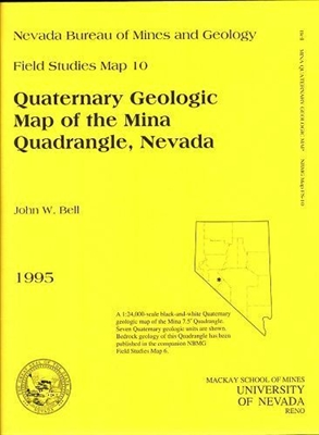Quaternary geologic map of the Mina quadrangle, Nevada B/W MAP