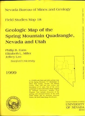 Geologic map of the Spring Mountain quadrangle, Nevada and Utah B/W MAP AND TEXT