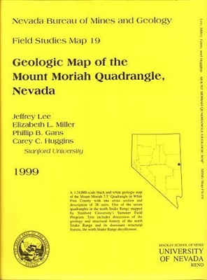 geologic map of the mount moriah quadrangle nevada b w map and text. Black Bedroom Furniture Sets. Home Design Ideas