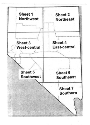 Geologic map of Nevada 8 SHEETS, INCLUDES LEGEND