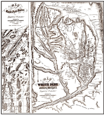 Map of the White Pine Mining District (includes map of the White Pine Range)
