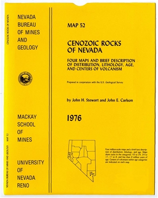 Cenozoic rocks of Nevada: Four maps and brief description of distribution, lithology, age, and centers of volcanism [4 SHEETS AND TEXT]