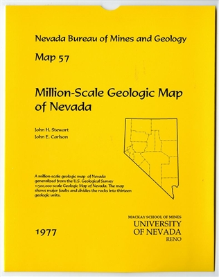 Million-scale geologic map of Nevada