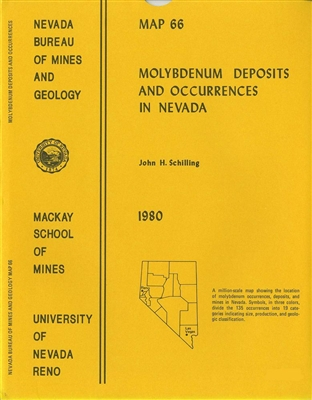 Molybdenum deposits and occurrences in Nevada