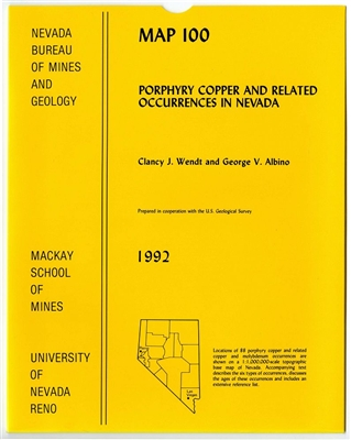 Porphyry copper and related occurrences in Nevada MAP AND TEXT