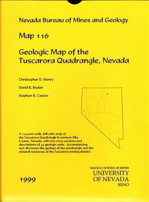 Geologic map of the tuscarora quadrangle nevada map and text - Geological survey and mines bureau ...