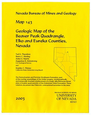 Geologic map of the Beaver Peak quadrangle, Elko and Eureka counties, Nevada MAP AND TEXT