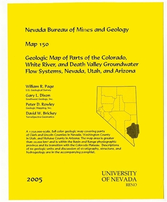 Geologic map of parts of the Colorado, White River, and Death Valley groundwater flow systems, Nevada, Utah, and Arizona [MAP AND TEXT]