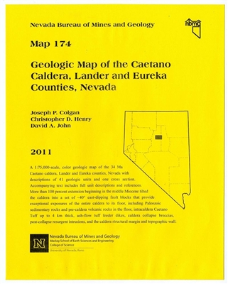 Geologic map of the Caetano caldera, Lander and Eureka counties, Nevada [MAP AND TEXT]