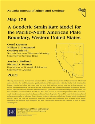 A geodetic strain rate model for the Pacific–North American plate boundary, western United States [91 PERCENT OF ORIGINAL SIZE]