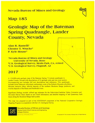 Geologic map of the Bateman Spring quadrangle, Lander County, Nevada [MAP AND TEXT]