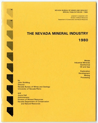 The Nevada mineral industry 1980 [TAPE-BOUND BOOKLET]