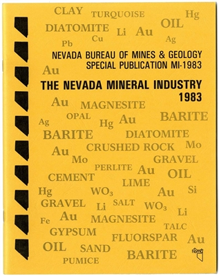 The Nevada mineral industry 1983 [TAPE-BOUND BOOKLET]