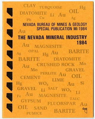 The Nevada mineral industry 1984 TAPE-BOUND BOOKLET