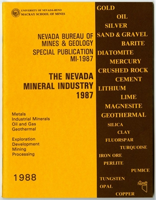 The Nevada mineral Industry 1987 [TAPE-BOUND BOOKLET]