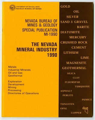 The Nevada mineral industry 1990 [TAPE-BOUND BOOKLET]