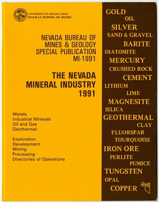 The Nevada mineral industry 1991 TAPE-BOUND BOOKLET
