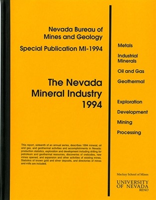 The Nevada mineral industry 1994 [ONLINE ONLY]