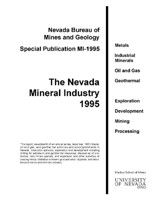 The Nevada mineral industry 1995 [OUT OF PRINT--PHOTOCOPY]