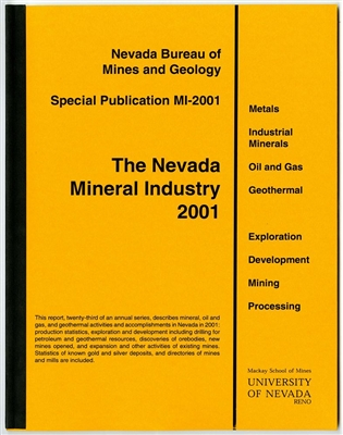 The Nevada mineral industry 2001 [TAPE-BOUND BOOKLET]