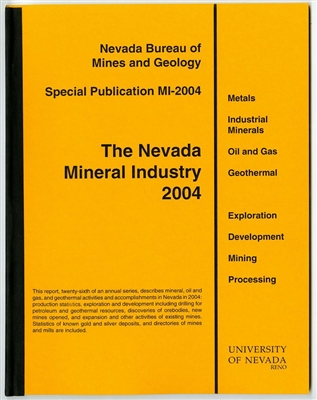 The Nevada mineral industry 2004 [TAPE-BOUND BOOKLET]
