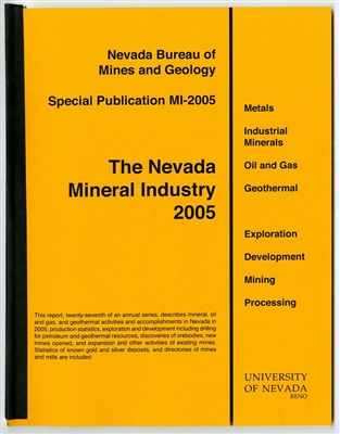 The Nevada mineral industry 2005 [TAPE-BOUND BOOKLET]