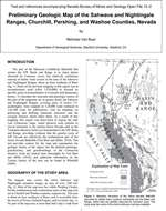 Preliminary geologic map of the Sahwave and Nightingale ranges, Churchill, Pershing, and Washoe counties, Nevada MAP AND TEXT