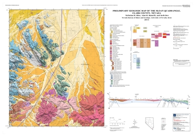 Preliminary geologic map of the Sloan quadrangle, Clark County, Nevada [MAP AND TEXT]