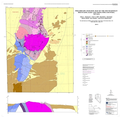Preliminary geologic map of the south Kinsley Mountains, Elko and White Pine counties, Nevada [SUPERSEDED BY OPEN-FILE REPORT 2017-07]
