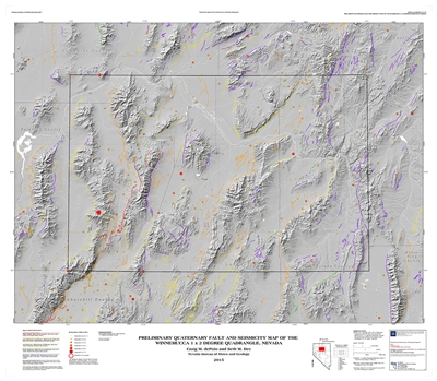 Preliminary Quaternary fault and seismicity map of the Winnemucca 1 x 2 degree quadrangle, Nevada