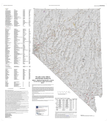 Nevada active mines and energy producers [SUPERSEDED BY OPEN-FILE REPORT 2019-01]