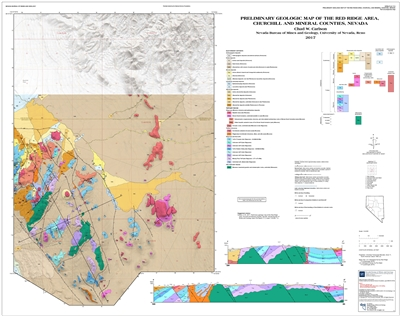 Preliminary geologic map of the Red Ridge area, Churchill and Mineral counties, Nevada [MAP AND TEXT]