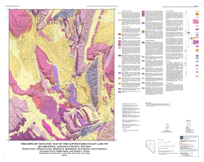 Preliminary geologic map of the Lower Pahranagat Lake NW quadrangle, Lincoln County, Nevada