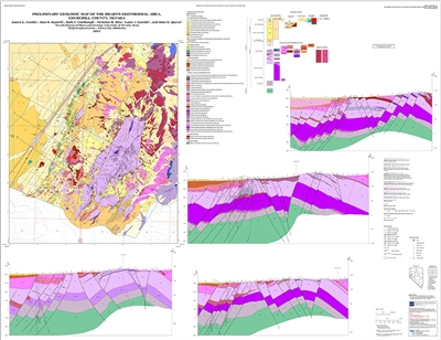 Preliminary geologic map of the Bradys geothermal area, Churchill County, Nevada [MAP AND TEXT]