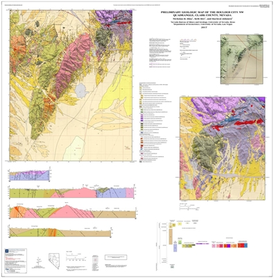 Preliminary geologic map of the Boulder City NW quadrangle, Clark County Nevada [MAP AND TEXT]