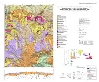 Preliminary geologic map of the Mount Rose NW quadrangle, Washoe County, Nevada [MAP AND TEXT]
