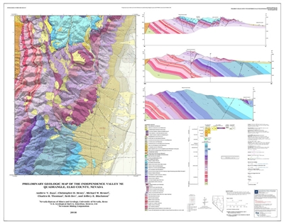 Preliminary geologic map of the Independence Valley NE quadrangle, Elko County, Nevada [MAP AND TEXT]