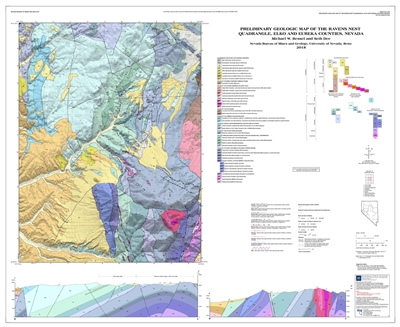Preliminary geologic map of the Ravens Nest quadrangle, Elko and Eureka counties, Nevada [MAP AND TEXT]