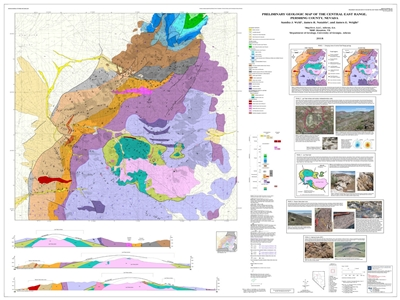 Preliminary geologic map of the central East Range, Pershing County, Nevada [MAP AND TEXT]