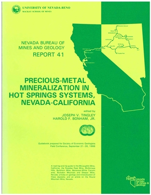 Precious-metal mineralization in hot springs systems, Nevada-California