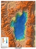 Lake Tahoe 3-D shaded relief [POSTER AND 3-D GLASSES]