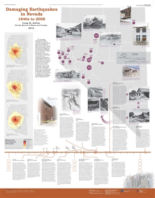Damaging earthquakes in Nevada: 1840s to 2008 [POSTER AND TEXT]