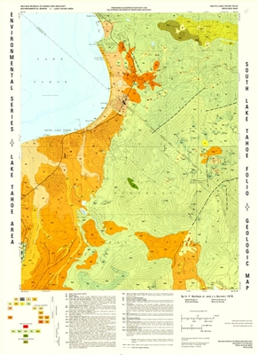 South Lake Tahoe folio: Geologic map