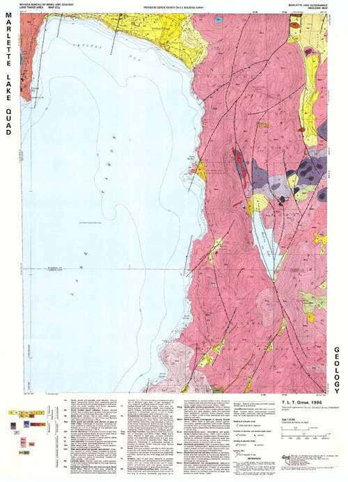 Marlette lake quadrangle geologic map - Geological survey and mines bureau ...