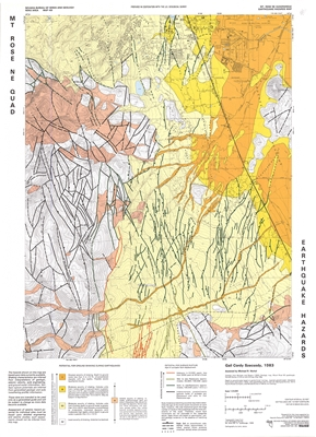 Mt. Rose NE quadrangle: Earthquake hazards map