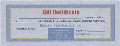 Boostin Performance - Gift Certificate