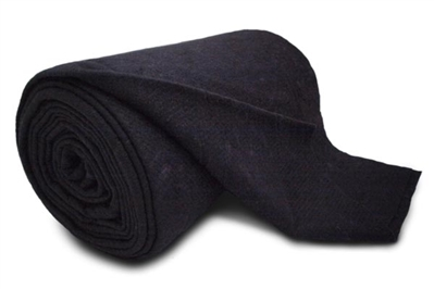 "Black Cotton/Poly - 10 yard cut 96""X10 yds"