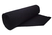 "Black Cotton/Poly - Roll 96""X25 yds"