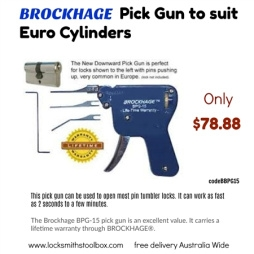 Brockhage Pick Gun to suit Euro Cylinders